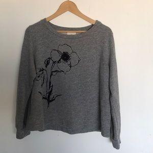 t.la gray sweater | small | excellent condition